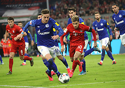 25.01.2020, Allianz Arena, Muenchen, GER, 1. FBL, FC Bayern Muenchen vs Schalke 04, 19. Runde, im Bild Bastian Oczipka gegen Philippe Coutinho // during the German Bundesliga 19th round match between FC Bayern Muenchen and Schalke 04 at the Allianz Arena in Muenchen, Germany on 2020/01/25. EXPA Pictures © 2020, PhotoCredit: EXPA/ SM<br /> <br /> *****ATTENTION - OUT of GER*****