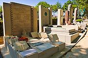 Holocaust memorials at Père Lachaise Cemetery, Paris, France