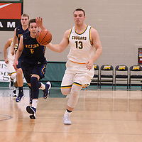 1st year forward Carter Millar (13) of the Regina Cougars in action during the home opener  on November  4 at Centre for Kinesiology, Health and Sport. Credit: /Arthur Images