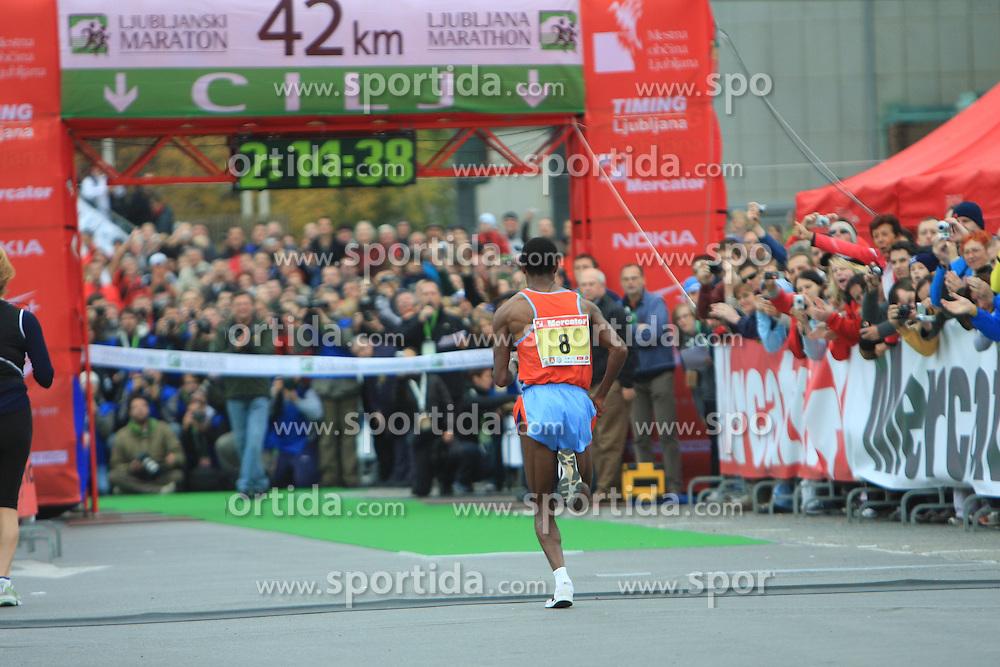 Zmagovalec na 42 km Amare Mulu (Etiopija) na 13. Ljubljanskem maratonu po ulicah Ljubljane, 26. oktobra 2008, Ljubljana, Slovenija. (Photo by Vid Ponikvar / Sportal Images)/ Sportida)