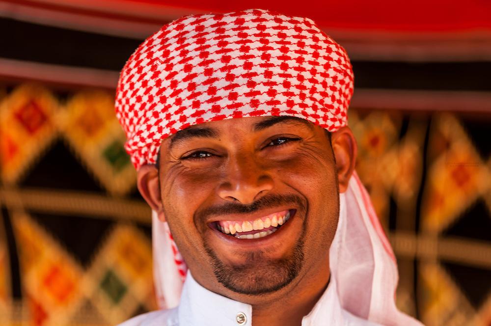 Bedouin man, Captain's Desert Camp, Wadi Rum (in the Arabian Desert), Jordan