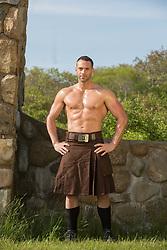 muscular man in a kilt