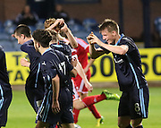 Celebration for Lee Cameron goal - Dundee v Aberdeen, SPFL development league<br />