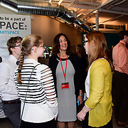 Attendees gather inside at TEDx Piscataqua, May 6, 2015 at 3S Artspace in Portsmouth NH