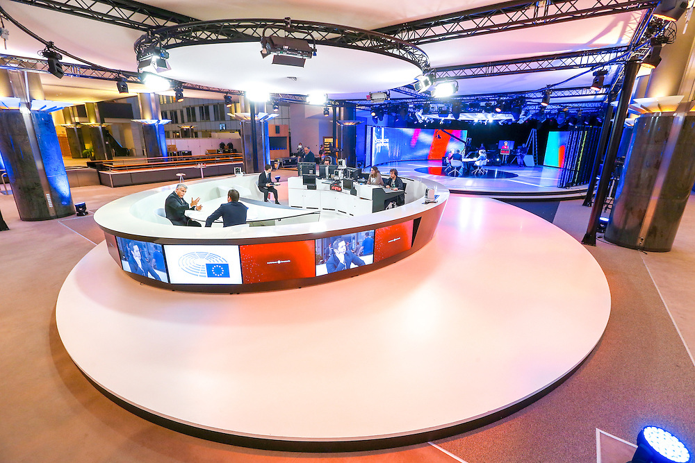 TV studio set in the ASP building