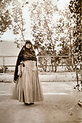 Western woman dressed up in Moroccan traditional clothing 1930s
