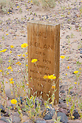 Grave near Stovepipe Wells, Death Valley National Park, California