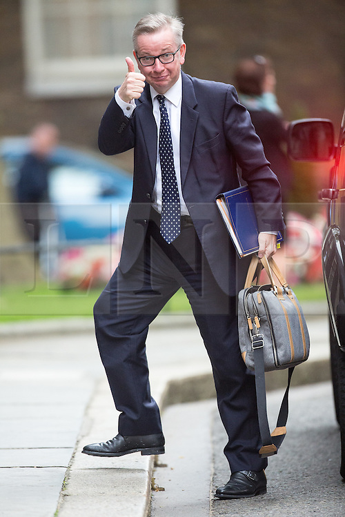 © Licensed to London News Pictures . 05/07/2016 . London , UK . MICHAEL GOVE arrives . Conservative Party cabinet meeting on Downing Street , London . Photo credit: Joel Goodman/LNP