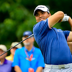 Apr 28, 2016; Avondale, LA, USA; Jason Day tees off on the 18th hole during the first round of the 2016 Zurich Classic of New Orleans at TPC Louisiana. Mandatory Credit: Derick E. Hingle-USA TODAY Sports