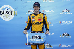 September 14, 2018 - Las Vegas, Nevada, United States of America - Erik Jones (20) wins the pole for the South Point 400 at Las Vegas Motor Speedway in Las Vegas, Nevada. (Credit Image: © Chris Owens Asp Inc/ASP via ZUMA Wire)