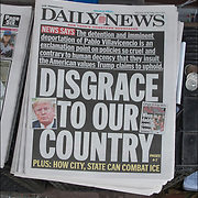 Daily News cover headlines about  President Trump latest tweets<br /> Daily News Headlines &quot; Disgrace To Our Country&quot; &quot; NEWS SAYS: The delention and imminent deportation of Pablo Villavicencio is an exclamation point on policies so cruel and contray to human decency that they insult the American values Trump claims to uphould.