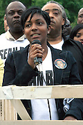 Nicole Paultre-Bell at the Critical Mass and The National Action Network(NAN) join forces for The Critical Mass monthly civil disobedience ride to protest the Not Gulity verdict of NYPD shooting death of Sean Bell, and critically injuring Joseph Guzman and Trent Benefield at 14th Streeet Union Square on May 30, 2008 ..Critical Mass is an event typically held on the last Friday of every month in cities around the world where bicyclists and other self-propelled commuters take to the streets en masse. While the ride was originally founded with the idea of drawing attention to how unfriendly the city was to bicyclists,[1] the leaderless structure of Critical Mass makes it impossible to assign it any one specific goal. In fact, the purpose of Critical Mass is not formalized beyond the direct action of meeting at a set location and time and traveling as a group through city or town streets.