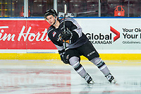 KELOWNA, BC - JANUARY 4: Jackson Shepard #18 of the Vancouver Giants warms up on the ice against the Kelowna Rockets at Prospera Place on January 4, 2020 in Kelowna, Canada. (Photo by Marissa Baecker/Shoot the Breeze)