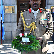 Nations of Peacekeepers representative attend International Day of United Nations Peacekeepers - Remembrance Ceremony, on 23 May 2019, London, UK.