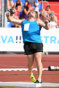 Jacko Gill (NZL) places fifth in the shot put with a throw of 66-11 1/2 (20.41m) during the 56th Ostrava Golden Spike in an IAAF World Challenge meeting at Mestky Stadion in Ostrava, Czech Republic on Wednesday, June 28, 20017. (Jiro Mochizuki/Image of Sport)
