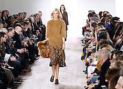 Models display the creations of Michael Kors during the Mercedes-Benz Fall/Winter 2015 shows at Spring Studios in New York City, New York on February 18, 2015.