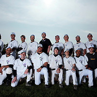 25 April 2010: Team PUC poses prior to game 2/week 3 of the French Elite season won 12-0 by Rouen over the PUC, at the Pershing Stadium in Vincennes, near Paris, France.