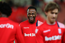 Saido Berahino of Stoke City jokes with his team mates during the warm up - Mandatory by-line: Matt McNulty/JMP - 01/02/2017 - FOOTBALL - Bet365 Stadium - Stoke-on-Trent, England - Stoke City v Everton - Premier League