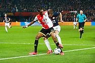 17-12-2015 VOETBAL: KNVB BEKER: FEYENOORD- WILLEM II: ROTTERDAM<br /> <br /> Robert Braber van Willem II in duel met Terence Kongolo van Feyenoord <br /> <br /> Foto: Geert van Erven