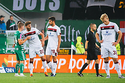 14.07.2019, Allianz Stadion, Wien, AUT, Testspiel, SK Rapid Wien vs 1. FC Nuernberg, im Bild Spieler nach Abpfiff // players after the game during a test match for the upcoming Season between SK Rapid Wien and 1. FC Nuernberg at the Allianz Stadion in Wien, Austria on 2019/07/14. EXPA Pictures © 2019, PhotoCredit: EXPA/ Florian Schroetter