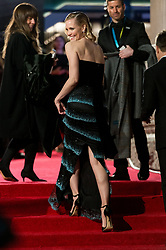 © Licensed to London News Pictures. 18/02/2018. LESLIE BIBB arrives on the red carpet for the EE British Academy Film Awards 2018, held at the Royal Albert Hall, London, UK. Photo credit: Ray Tang/LNP