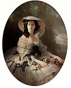 The Empress Eugenie', 19th century, (c1920). Portrait of Empress Eugenie de Montijo (1826-1920), wife of Napoleon III. by Franz Xavier Winterhalter