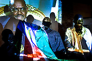 South Sudanese sceam at an image of Al Bashir the night before the South Sudan's referendum in Juba on Jan. 9, 2011.