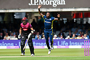 Fidel Edwards of Hampshire during the Royal London 1 Day Cup Final match between Somerset County Cricket Club and Hampshire County Cricket Club at Lord's Cricket Ground, St John's Wood, United Kingdom on 25 May 2019.