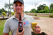 Beer and soup in Kilometro Cero, Cueto, Holguin, Cuba.