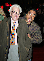 LONDON - OCTOBER 16: Barry Cryer; Sanjeev Bhaskar attended the screening of 'A Liar's Autobiography' at the Empire Cinema, Leicester Square, London, UK. October 16, 2012. (Photo by Richard Goldschmidt)