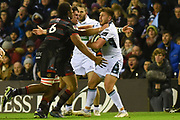 Play was scrappy at times during the Guinness Pro 14 2017_18 match between Edinburgh Rugby and Glasgow Warriors at Murrayfield, Edinburgh, Scotland on 23 December 2017. Photo by Kevin Murray.
