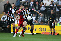 Photo: Pete Lorence.<br />Notts County v Swindon Town. Coca Cola League 2. 23/09/2006.<br />Notts County's Ian Ross defends the ball from Christian Roberts.