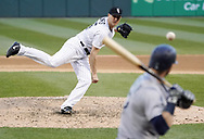 CHICAGO - APRIL 24:  Nate Jones #65 of the Chicago White Sox fields against the Seattle Mariners on April 24, 2018 at Guaranteed Rate Field in Chicago, Illinois.  (Photo by Ron Vesely)   Subject:   Nate Jones