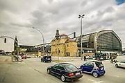 The Hauptbahnhof in Hamburg, Germany.