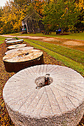 Mill stones at Haygood Mill, a working gristmill near Pickens, South Carolina.