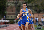 Robert Brandt of UCLA wins the 1,500m in 3:44.66 during an NCAA college dual meet in Los Angeles, Sunday, April 28, 2019.