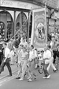 Stillingfleet Branch banner. 1988 Yorkshire Miner's Gala. Wakefield.