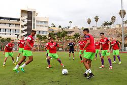 Lloyd Kelly of Bristol City in action during the warm up - Mandatory by-line: Matt McNulty/JMP - 22/07/2017 - FOOTBALL - Tenerife Top Training - Costa Adeje, Tenerife - Bristol City v Atletico Union Guimar  - Pre-Season Friendly