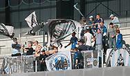 FODBOLD: FC Helsingør-fans under kampen i ALKA Superligaen mellem Silkeborg IF og FC Helsingør den 11. august 2017 på Jysk Park i Silkeborg. Foto: Claus Birch