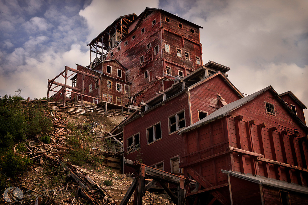 Alaska. Kennicott Copper Mine, McCarthy Road, Wrangle St Elias National Park,