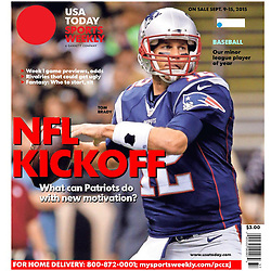 USA TODAY SPORTS WEEKLY 2015 Cover - Tom Brady - Patriots