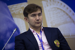 June 1, 2017 - Saint Petersburg, Russia - Chess Grandmaster Sergey Karyakin attends a session of the St. Petersburg International Economic Forum (SPIEF), Russia, June 1, 2017  (Credit Image: © Igor Russak/NurPhoto via ZUMA Press)