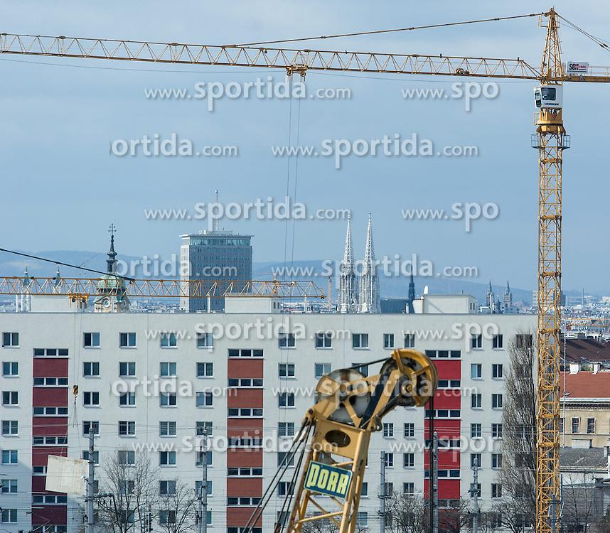 THEMENBILD - Wohnungsbau in Wien. Aufgenommen am 05.03.2015 in Wien, Österreich // Housing Construction in Vienna, Austria on 2015/03/05. EXPA Pictures © 2015, PhotoCredit: EXPA/ Michael Gruber