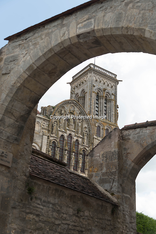 France .  Vezelay Abbaye in Yonne department