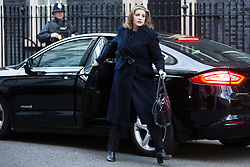 London, UK. 8th January, 2019. Penny Mordaunt MP, Secretary of State for International Development, arrives at 10 Downing Street for the first Cabinet meeting since the Christmas recess.