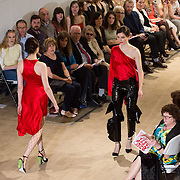 13.05.2016.           <br /> Models showcase designs by Aoife Morgan titled 'Bloodlust'  at the much anticipated Limerick School of Art & Design, LIT, (LSAD) Graduate Fashion Show on Thursday 12th May 2016. The show took place at the LSAD Gallery where 27 graduates from the largest fashion degree programme in Ireland showcased their creations. Ranked among the world's top 50 fashion colleges, Limerick School of Art and Design is continuing to mold future Irish designers.. Picture: Alan Place/Fusionshooters