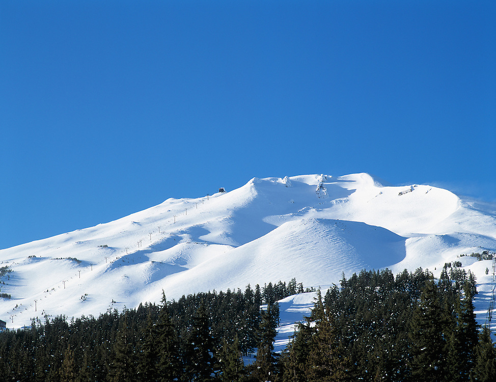 Mount Bachelor ski area, Deschutes National Forest, Cascade Mountains, Oregon.