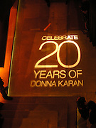 Lighting, Donna Karan Party to celebrate 20 Years  as a designer.  Showroom in New Bond St. 21 September 2004. DoSUPPLIED FOR ONE-TIME USE ONLY-DO NOT ARCHIVE. © Copyright Photograph by Dafydd Jones 66 Stockwell Park Rd. London SW9 0DA Tel 020 7733 0108 www.dafjones.com