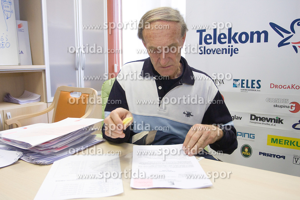 when Slovenian athletes and their coaches sign contracts with Athletic federation of Slovenia for year 2009,  in AZS, Ljubljana, Slovenia, on March 2, 2009. (Photo by Vid Ponikvar / Sportida)