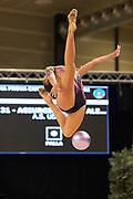 Alexandra Agiurgiuculese from Udinese team during the Italian Rhythmic Gymnastics Championship in Padova, 25 November 2017.